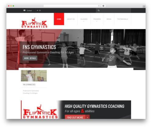 Fit WP gym WordPress theme - fnsgymnastics.com