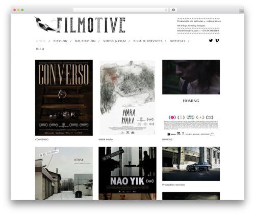 Grid Based Responsive WordPress Theme WordPress website template - filmotive.com
