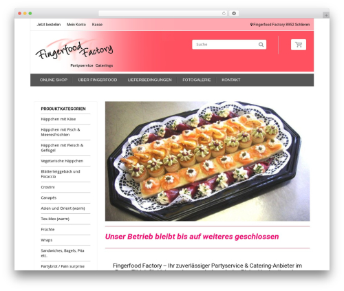 HandyStore Theme WordPress template for business - fingerfood.ch