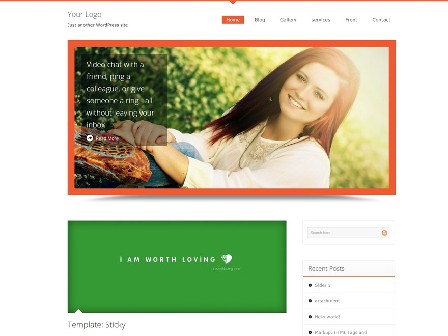 Harrington best free WordPress theme