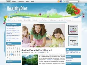 HealthyDiet WordPress blog template