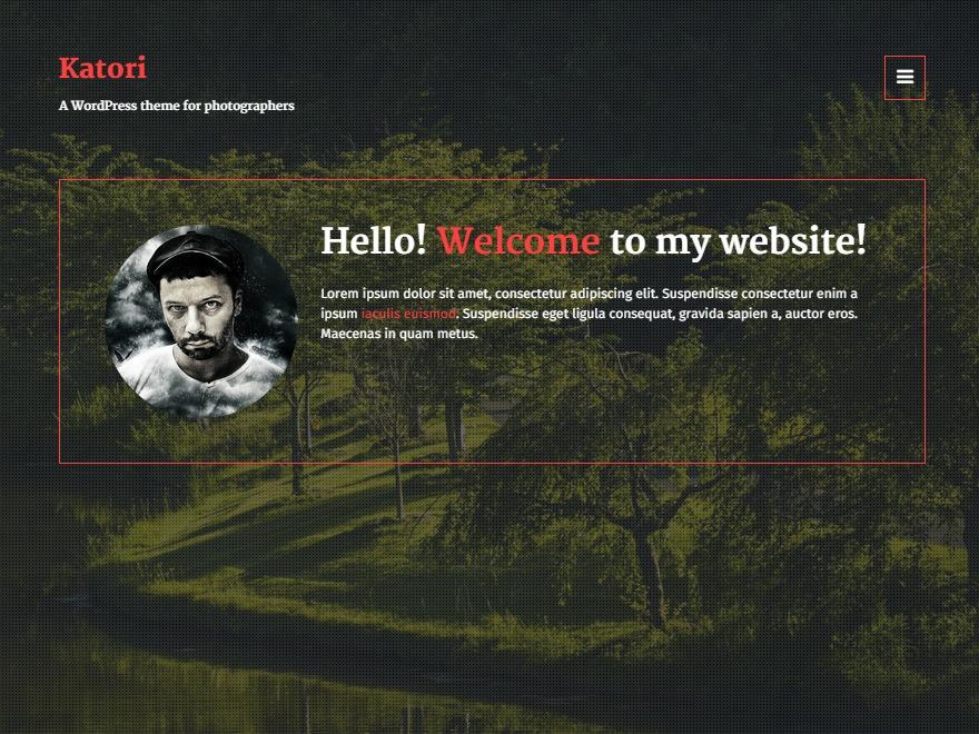 Katori WordPress photo theme