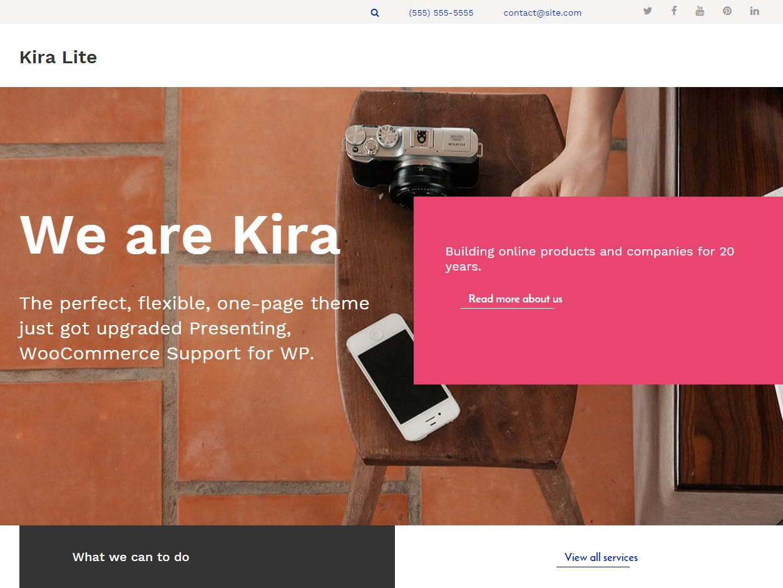 Kira Lite WordPress portfolio template