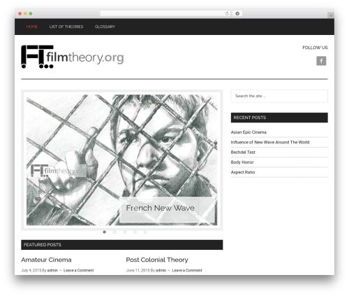 Magazine Pro Theme WordPress news theme - filmtheory.org