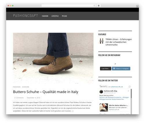 Magazine WordPress magazine theme - fashioncraft.de
