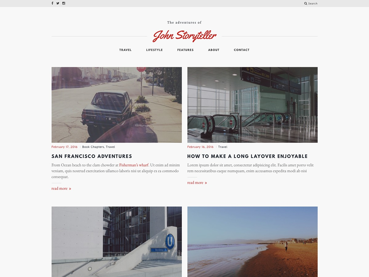 Mauer Storyteller WordPress blog template