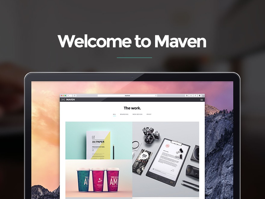 Maven personal blog WordPress theme