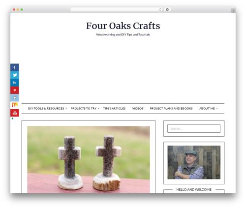 MinimalistBlogger WordPress blog template - fouroakscrafts.com