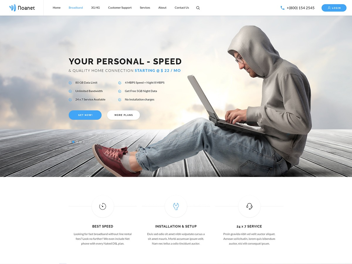 Noanet best WordPress theme