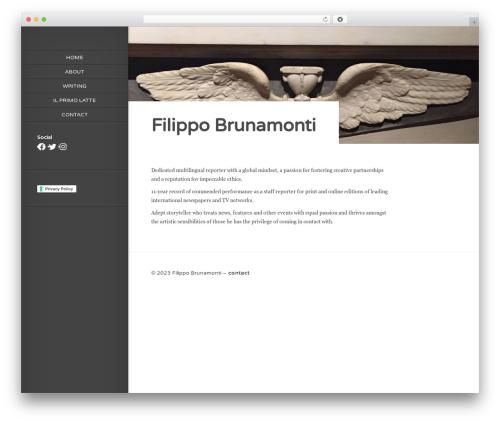 Origin WordPress theme - filippobrunamonti.com