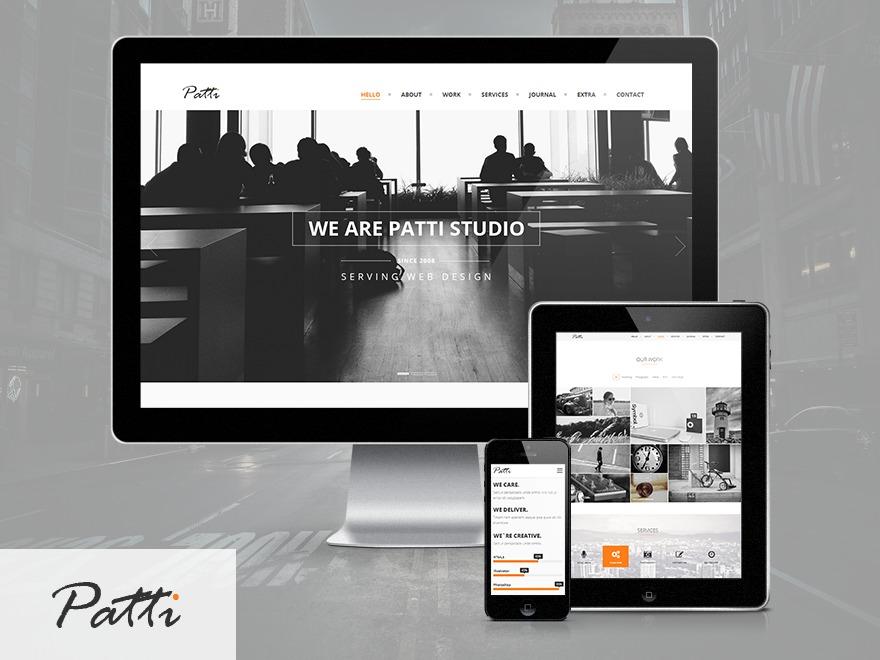Patti-Child WordPress portfolio theme