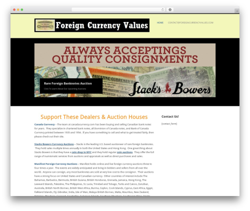 Performs WP theme - foreigncurrencyvalues.com