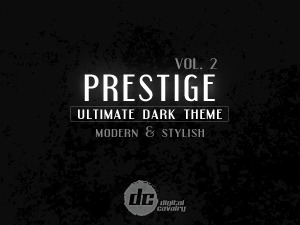 Prestige Dark vol.2 theme WordPress portfolio