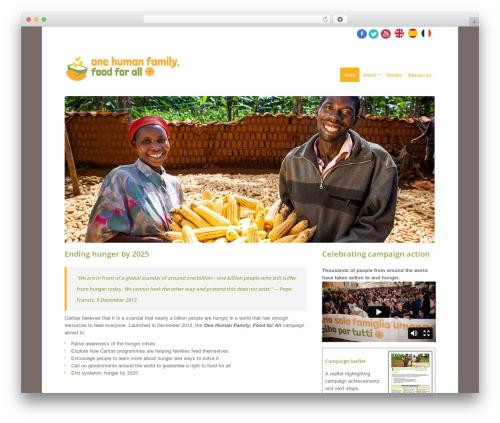 PurePress top WordPress theme - food.caritas.org
