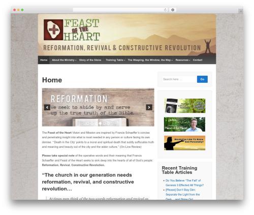 Responsive free WP theme - feastoftheheart.org