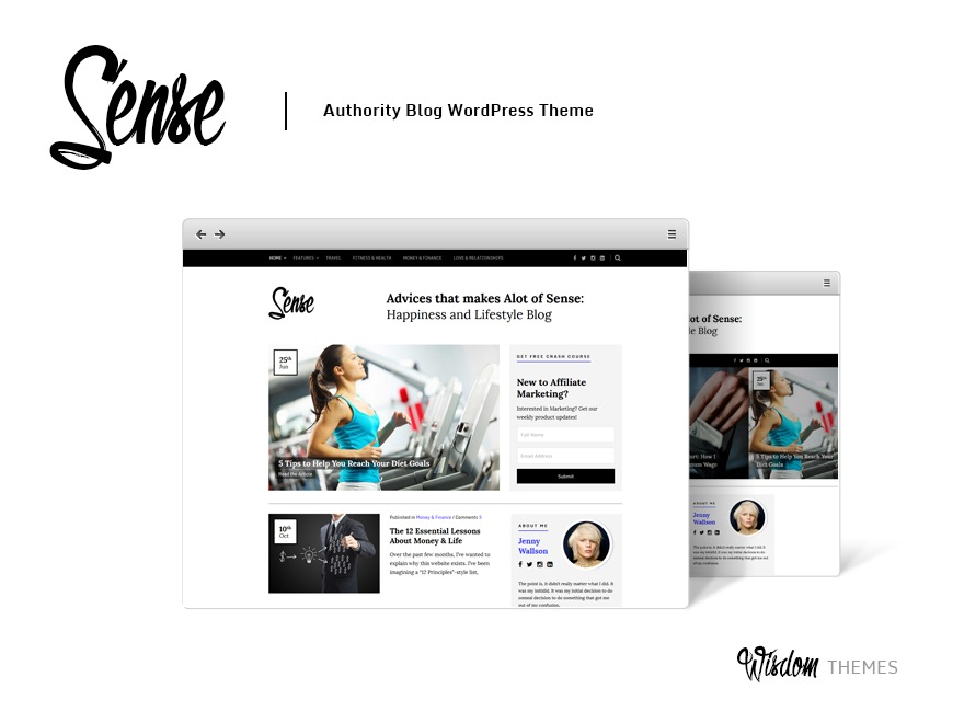 Sense WordPress blog template