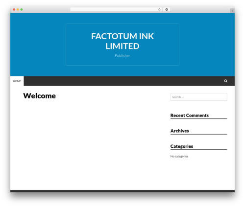 Simone WordPress theme - factotumink.com