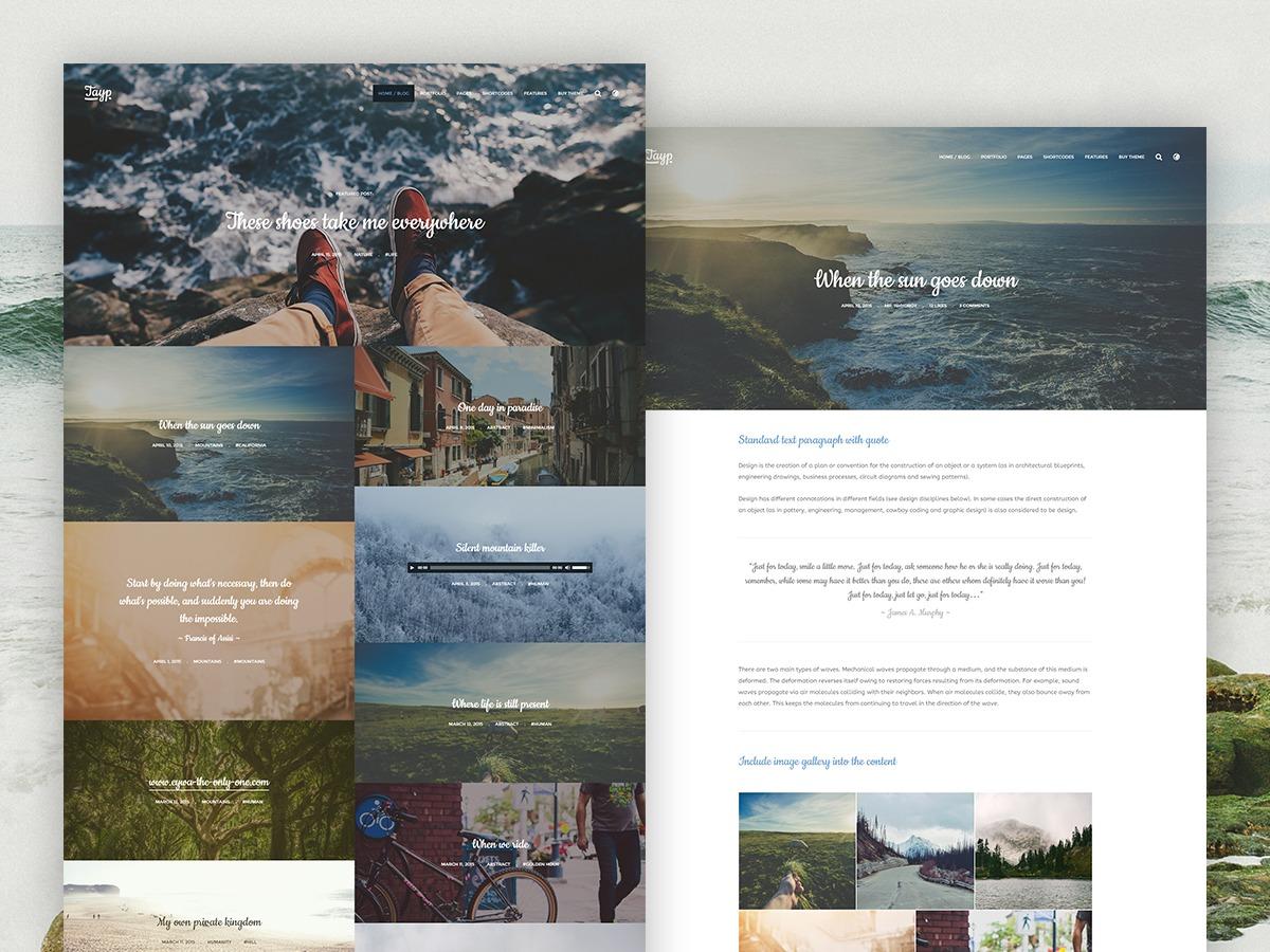 Tayp WordPress blog template