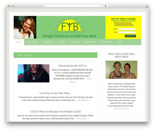 Theme WordPress Lifestyle Pro Theme - feelyourbest.com