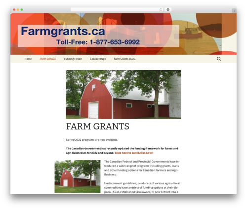 Theme WordPress Twenty Thirteen - farmgrants.ca