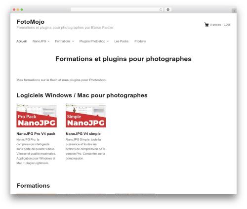 Themedd WordPress theme design - fotomojo.fr