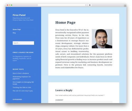 Twenty Fifteen template WordPress free - firoz-patel.com