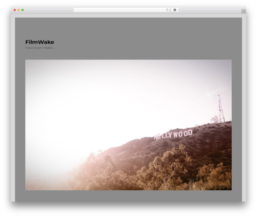 Twenty Sixteen theme WordPress - filmwake.com