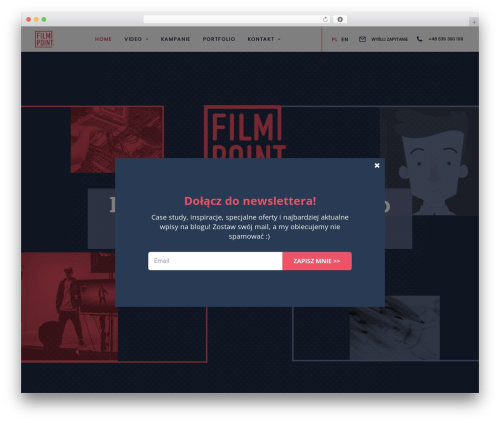 Uncode WordPress video theme - filmpoint.pl