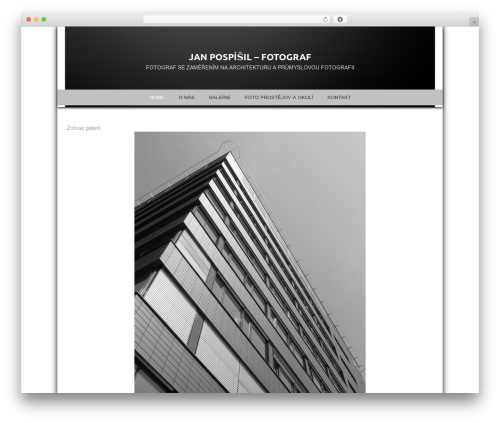 WordPress template Photocrati Theme - fotopospisil.com