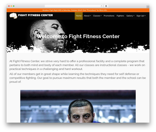WordPress website template Pinnacle Premium - fightfitnesscenter.net