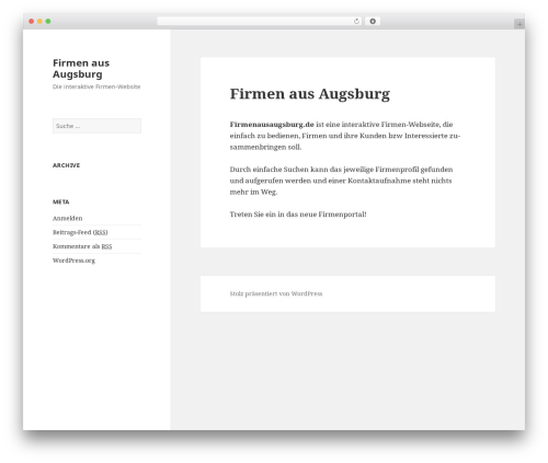 WordPress website template Twenty Fifteen - firmenausaugsburg.de