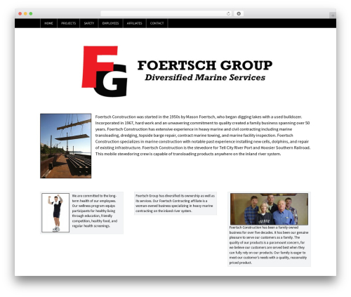 WP-Brilliance best WordPress theme - foertschgroup.com