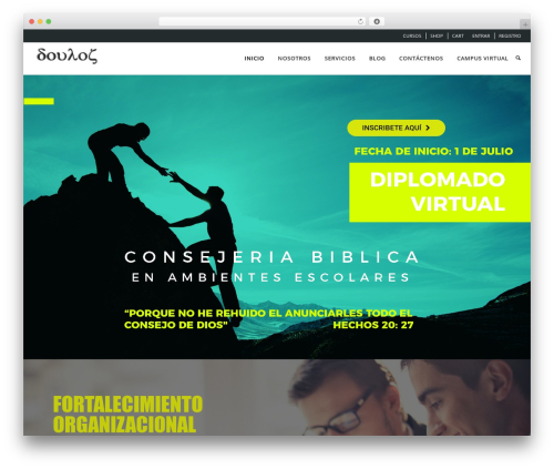 WPLMS best WordPress theme - fundaciondoulos.org