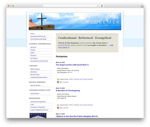 Best WordPress theme Plain - churchredeemeraz.org