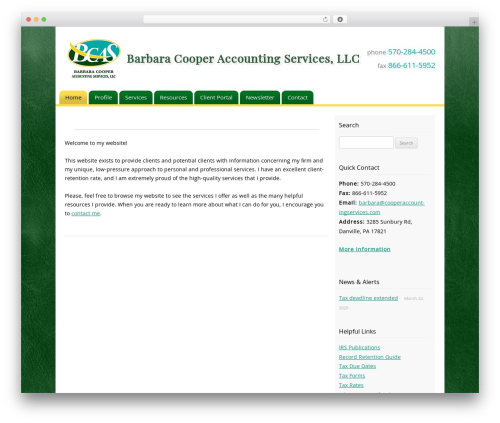 Customized WordPress template for business - cooperaccountingservices.com
