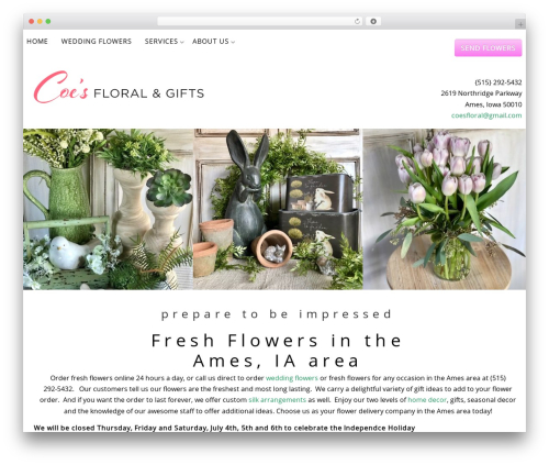 Gantry Theme for WordPress WordPress ecommerce template - coesfloralandgifts.com