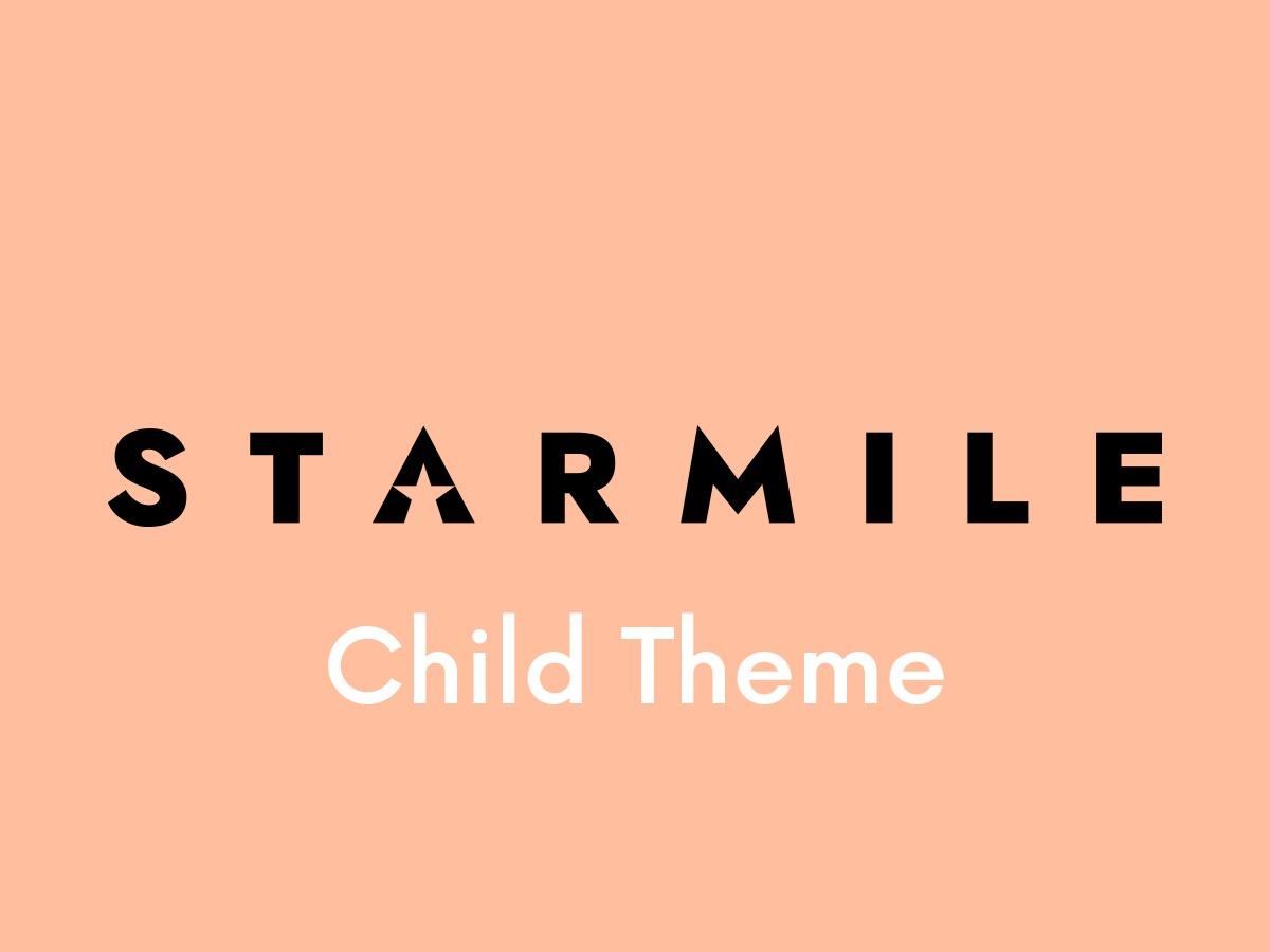 Starmile Child Theme WordPress page template
