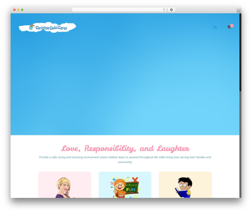 WordPress website template Betheme - childcareevent.christianchildcares.com
