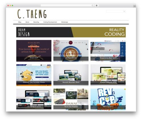 WordPress website template Simple Grid Theme Responsive - chuantheng.com