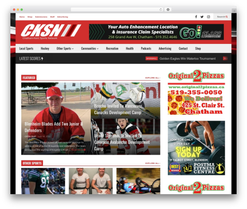 FlatNews WordPress template - cksn.ca