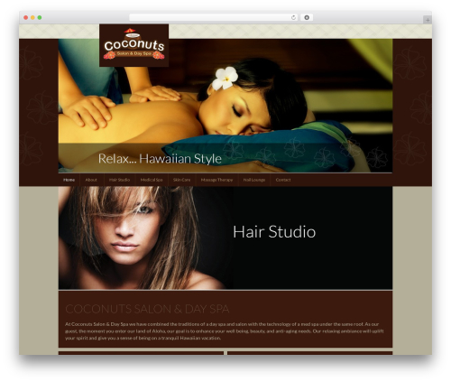 Genesis Sandbox WordPress page template - coconutssalon.com