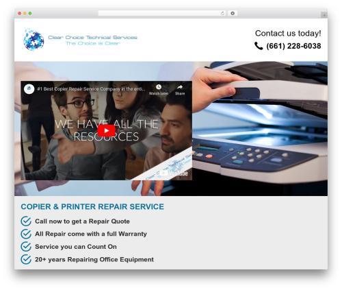 PQ Niche site best WordPress template - copierrepairbakersfield.com
