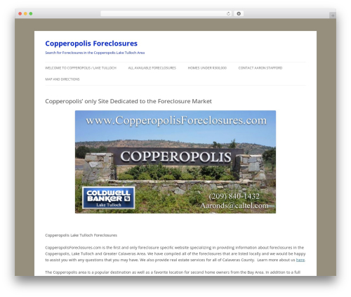 Twenty Twelve WordPress free download - copperopolisforeclosures.com