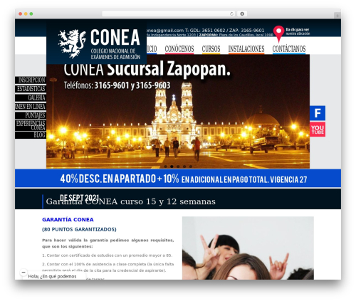 Ultimate (Share on Theme123.Net) template WordPress - conea.mx