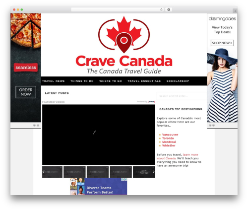 WordPress theme Hickory - cravecanada.com