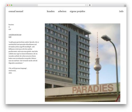 WordPress theme Werkstatt - conradmenzel.de