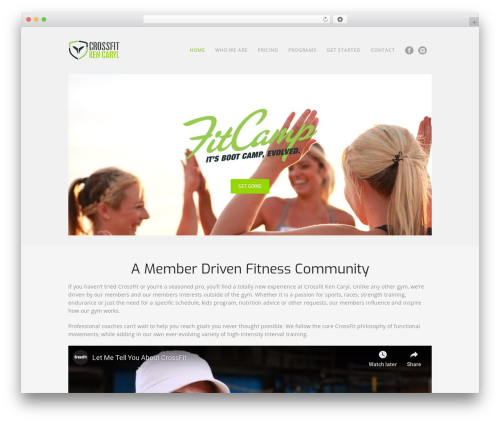 Workout fitness WordPress theme - crossfitkencaryl.com