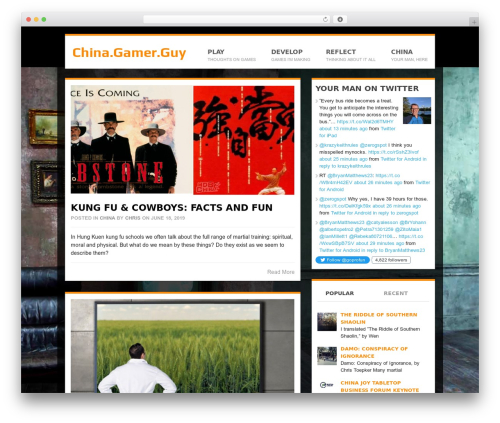 Best WordPress template Groovy - chinagamerguy.com