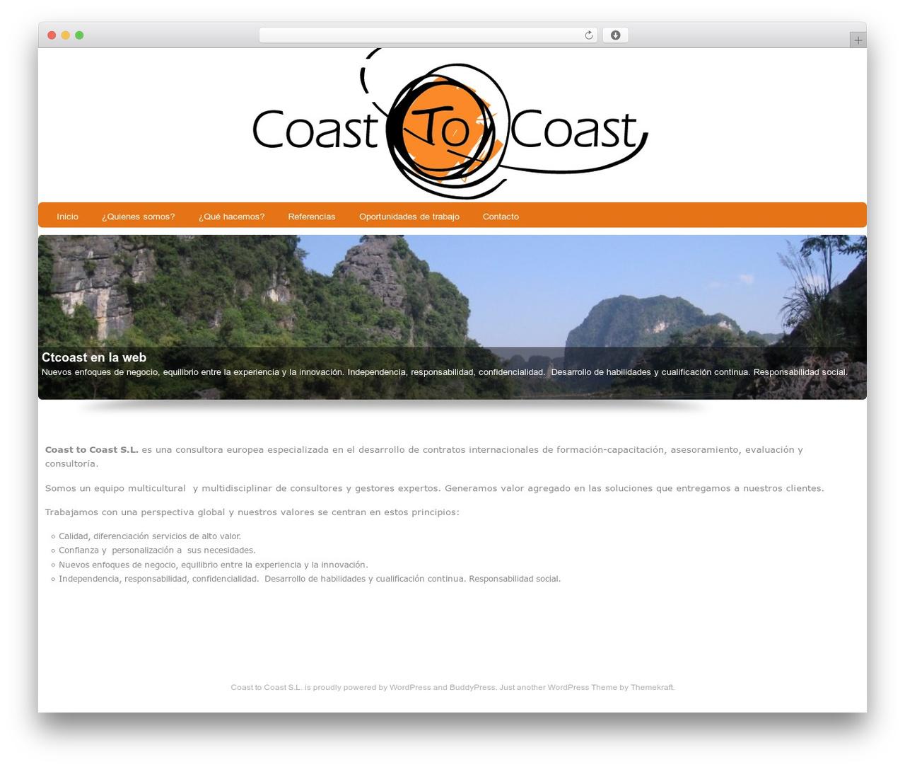Custom Community Pro WordPress theme - ctcoast.es