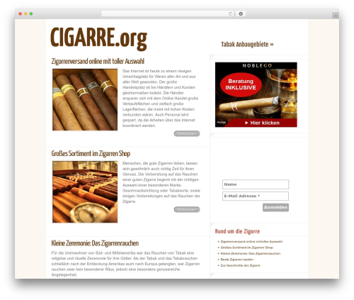 Delicate News WP theme - cigarre.org